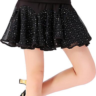 ריקוד לטיני חלקים תחתונים בגדי ריקוד נשים הדרכה פוליאסטר Paillette נפול חצאיות