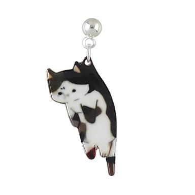 Χαμηλού Κόστους Μοδάτα Σκουλαρίκια-Γυναικεία Κρεμαστά Σκουλαρίκια Ένα σκουλαρίκι Γάτα Φτηνός Απλός Βασικό Σκουλαρίκια Κοσμήματα Λευκό / Μαύρο / Μαύρο / Άσπρο Για Καθημερινά Ημερομηνία