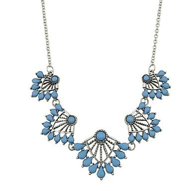 בגדי ריקוד נשים שרשראות תליון - חיקוי טורמלין פרח בסיסי, אופנתי כחול שרשראות תכשיטים עבור יומי, שנה חדשה