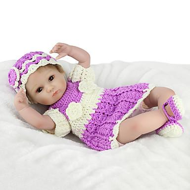 NPK DOLL בובה מחדש תינוק 18 אִינְטשׁ סיליקון / ויניל - כְּמוֹ בַּחַיִים, ריסים ידניים, ציפורניים אטומות וחותמות הילד של בנות מתנות / CE / עור טבעי / ראש דיסקט