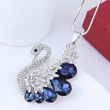 abordables Collier-Collier Pendentif Femme Long Cygne Européen Mode Bleu de minuit Gris Colliers Tendance Bijoux pour Soirée