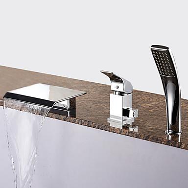 Grifo de bañera - Moderno Cromo Bañera romana Válvula Cerámica