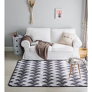 שטח שטיחים מודרני פלנלית, מלבני איכות מעולה שָׁטִיחַ / החלקה ללא לטקס