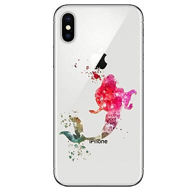 מגן עבור Apple iPhone X / iPhone 8 אולטרה דק / תבנית כיסוי אחורי סקסי ליידי רך TPU ל iPhone X / iPhone 8 Plus / iPhone 8