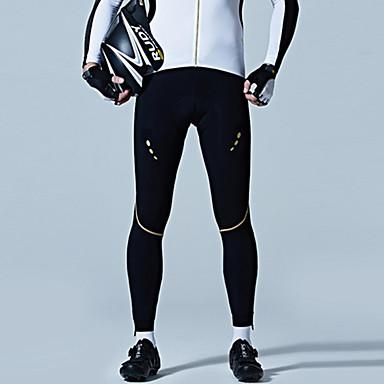 SANTIC Men's Cycling Tights Bike Leggings / Bottoms Windproof Solid Colored Black Bike Wear