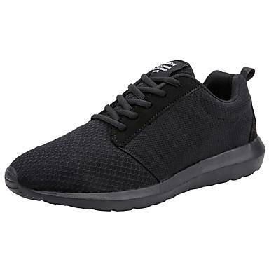 בגדי ריקוד גברים רשת אביב / סתיו נוחות נעלי אתלטיקה ריצה שחור / שחור לבן