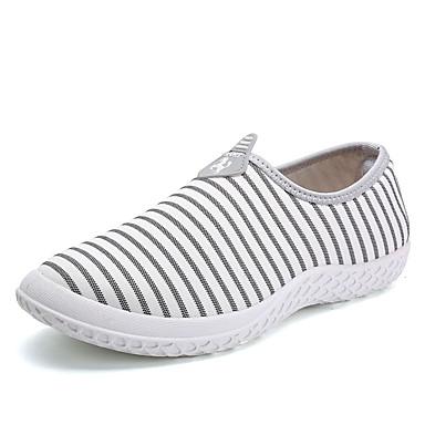 בגדי ריקוד גברים קנבס אביב / סתיו נוחות נעליים ללא שרוכים לבן / שחור / כחול