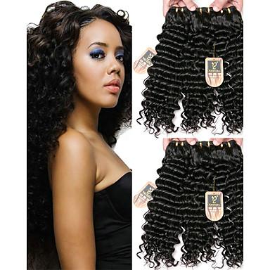 6 צרורות שיער ברזיאלי גל עמוק שיער בתולי טווה שיער אדם שוזרת שיער אנושי תוספות שיער אדם