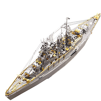 3D Puzzle / Metal Puzzle Military / Battleship Metalic / Stainless Steel 1 pcs Boat Kid's / Adults' Gift