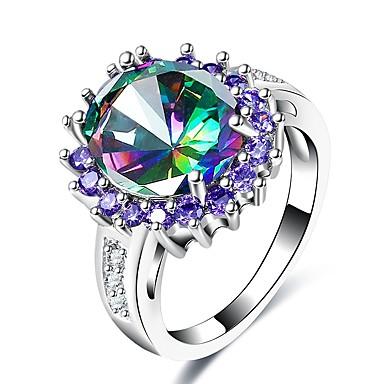 בגדי ריקוד נשים אמטיסט סינתטי טבעת הטבעת - קלסי, וינטאג', אלגנטית 7 / 8 / 9 עבור חתונה Party יומי