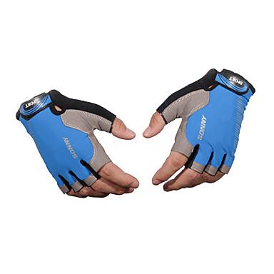 preiswerte Motorrad & ATV Teile-Halber finger Unisex Motorrad-Handschuhe Stoff Demin Atmungsaktivität / tragbar / Rutschfest