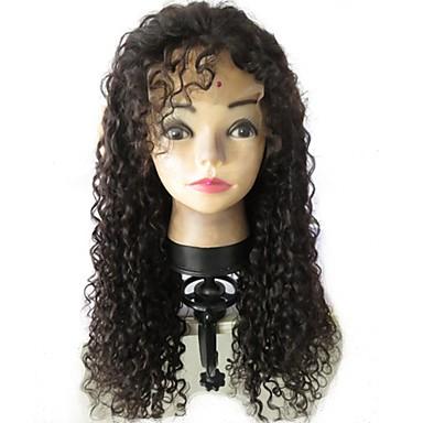 שיער בתולי שיער אנושי חלק קדמי תחרה ללא דבק חזית תחרה פאה שיער ברזיאלי מתולתל Jerry curl פאה 130% צפיפות שיער עם שיער בייבי שיער טבעי בתולה100% לא מעובד בגדי ריקוד נשים בינוני ארוך / שיער אדםלא מעוב