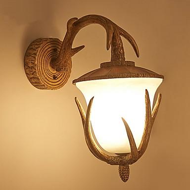 מגן עין קאנטרי מנורות קיר חדר שינה שרף אור קיר 220-240V / E14