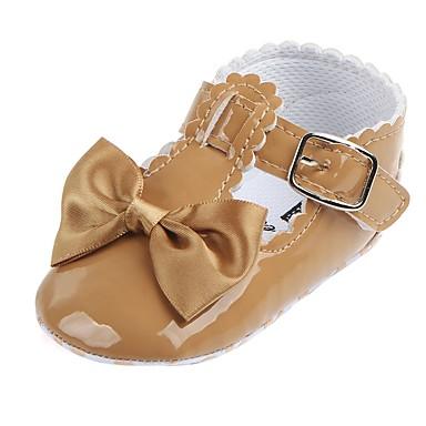 40ef39a91 Девочки Дерматин На плокой подошве Удобная обувь / Обувь для малышей /  Пинетки Бант / На липучках Красный / Розовый / Тёмно-синий Весна
