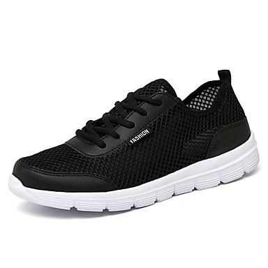 בגדי ריקוד גברים נעלי נוחות רשת אביב קיץ ספורטיבי / יום יומי נעלי ספורט ריצה נושם שחור / אפור / כחול