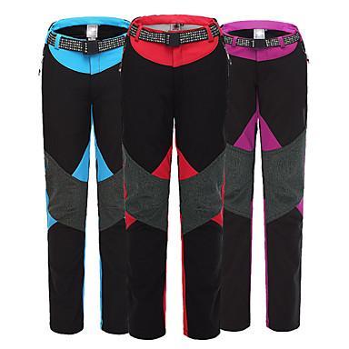 Women's Hiking Pants Outdoor Windproof, Waterproof, Thermal / Warm Spring, Fall, Winter Fleece, Softshell Pants / Trousers Skiing Camping / Hiking Snowsports L XL XXL / Fleece Lining