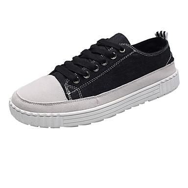 בגדי ריקוד גברים בד אביב / סתיו נוחות נעלי ספורט שחור / אפור / אדום