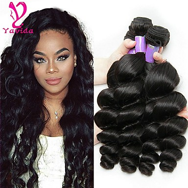 3 Bundles Brazilian Hair Loose Wave 8A Human Hair Natural Color Hair Weaves    Hair Bulk Human Hair Weaves Human Hair Extensions e7aaa7e8dc
