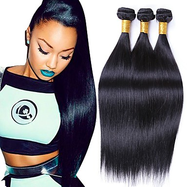 Human Hair Weaves Hair Extensions & Wigs Brazilian Human Hair Weave Bundles Deal Ocean Wave 3 Bundles Human Hair Estentions Double Weft Natural Color Remy Hair Weaving