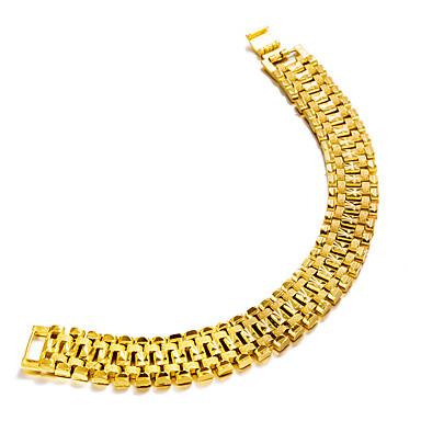 בגדי ריקוד גברים שרשרת וצמידים - ציפוי זהב אופנתי צמידים זהב עבור Party מתנה