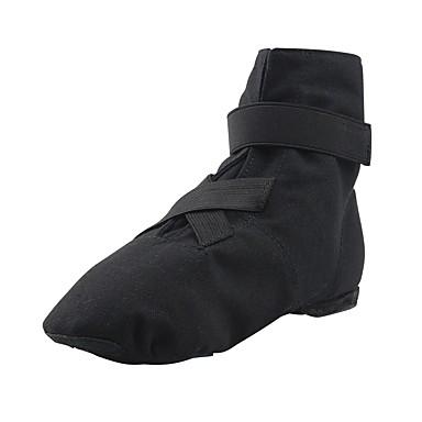 בגדי ריקוד נשים נעלי ג'אז קנבס שטוחות שטוח מותאם אישית נעלי ריקוד לבן / שחור / אדום / אימון