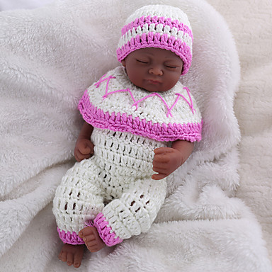 NPK DOLL בובה מחדש תינוקות בנות 10 אִינְטשׁ גוף מלא סיליקון / סיליקון / ויניל - כְּמוֹ בַּחַיִים, ריסים ידניים, ציפורניים אטומות וחותמות הילד של בנות מתנות / CE / עור טבעי / ראש דיסקט