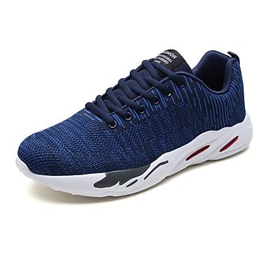 בגדי ריקוד גברים טול אביב / סתיו נוחות נעלי אתלטיקה הליכה שחור / אדום / כחול