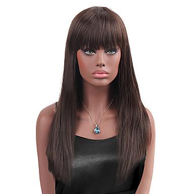 maysu natural bangs prevailing long straight hair synthetic wig
