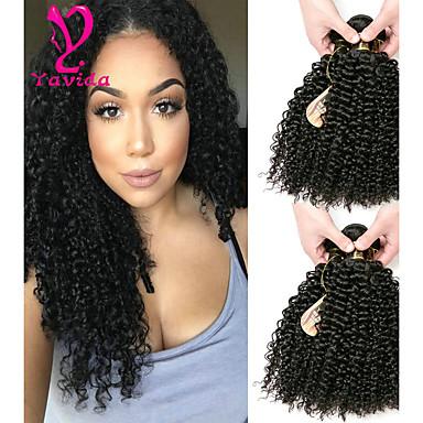 6 צרורות שיער ברזיאלי Kinky Curly שיער אנושי טווה שיער אדם שוזרת שיער אנושי תוספות שיער אדם בגדי ריקוד נשים / קינקי קרלי