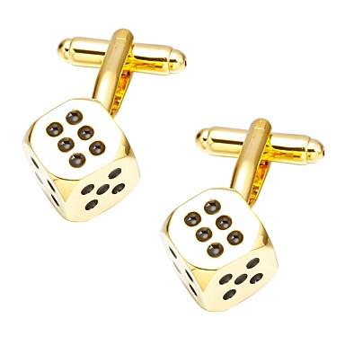 voordelige Herensieraden-Manchetknopen Stippen & Ruitjes Informeel Broche Sieraden Gouden Voor Dagelijks Formeel