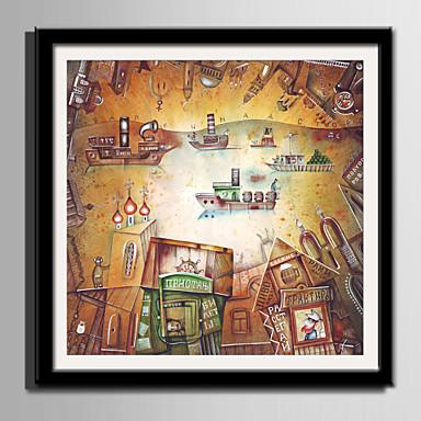 Çerçeveli Tuval Çerçeve Seti - Soyut Karton Plastik Çizim Duvar Sanatı