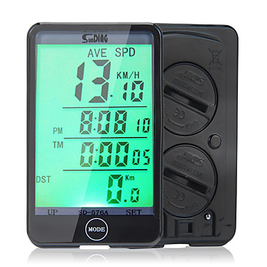 SunDing SD-576A Bike Computer/Bicycle Computer Stopwatch Waterproof Dst - Trip Distance LCD Display Speedometer Wired Odometer Clock SPD