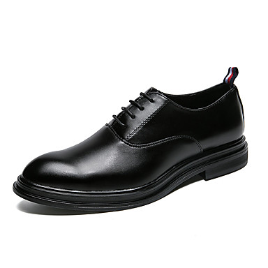 בגדי ריקוד גברים נעליים פורמליות סינטתי / דמוי עור / חומרים בהתאמה אישית סתיו / חורף נוחות / נעליים פורמלית נעלי אוקספורד שחור / שחור וכסף