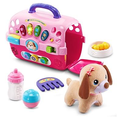 hesapli Oyuncaklar ve Oyunlar-Meslek ve Rol Yapma Oyuncakları Köpekler Aile Hayvan şan konuşma Ebeveyn-Çocuk Etkileşimi Sınıf ABS Plastik Çocuklar için Genç Erkek Genç Kız Oyuncaklar Hediye