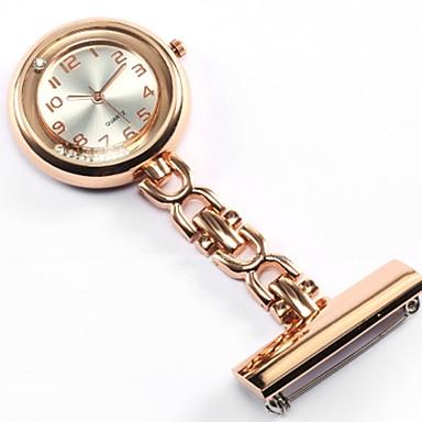 baratos Relógios Homem-Mulheres Casal Relógio de Bolso Colar com Relógio Enfermeira Relógios Quartzo Prata / Dourada / Rose Relógio Casual Analógico senhoras Luxo Fashion - Dourado Prata Rosa
