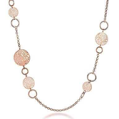 6f505c3620cd Mujer Forma de Círculo Árbol de la vida Casual Básico Moda Collares de cadena  Cristal Plateado