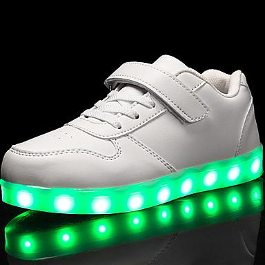 povoljno Cipele za dečke-Dječaci / Djevojčice Umjetna koža Sneakers Mala djeca (4-7s) / Velika djeca (7 godina +) Udobne cipele / Svjetleće tenisice Hodanje Vezanje / Kopčanje na kukicu / LED Crvena / Plava / Pink Proljeće