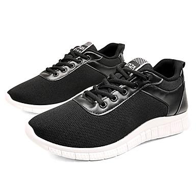 Męskie Buty Tiul Wiosna / Lato Comfort Tenisówki Black / Gray