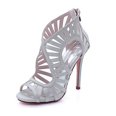 Basique Satin 06587328 Chaussures ouvert Champagne Aiguille Boucle Eté Ivoire Talon Printemps Sandales Escarpin Rouge Femme Bout qXCwHB5q