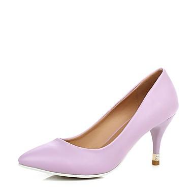 pointu Similicuir Violet à Chaussures Chaussures Talons Basique Bleu Printemps Bout Femme 06580671 Rose Aiguille Talon Escarpin Eté 57q10WOx
