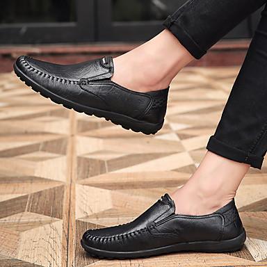Homme Chaussures de conduite Cuir Cuir Cuir Nappa / Cuir Printemps / Automne Confort Basket Marche Noir / Jaune Clair / Kaki | Une Bonne Conservation De Chaleur  638688