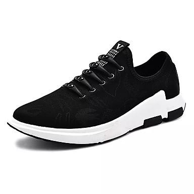 בגדי ריקוד גברים PU אביב / סתיו נוחות נעלי ספורט שחור לבן