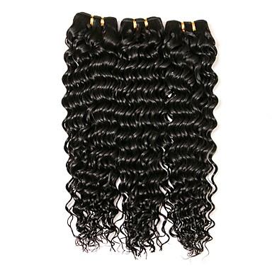 3 zestawy Włosy brazylijskie Falowana Włosy naturalne Doczepy z naturalnych włosów Kolor naturalny Ludzkie włosy wyplata Rozbudowa / Gorąca wyprzedaż Ludzkich włosów rozszerzeniach Wszystko