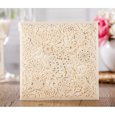 Wrap & kieszonkowy Zaproszenia ślubne 20 - Zaproszenia Klasyczny styl Wytłaczany papier Wytłaczany wzór