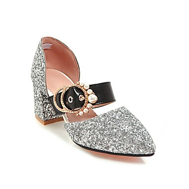 Femme Or 06600145 Argent Talons pointu Noir Confort Bottier Eté Talon à Similicuir Chaussures Printemps Bout Chaussures 7wC6r4q7