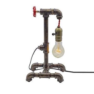retro woda rura lampa stołowa vintage metal salon sypialnia oprawa hotel kluby lampka nocna