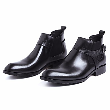 les chaussures de cuir nappa le cuir et les les les bottes automne / hiver confort / bottine de chaussons / bottines noires e97450