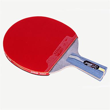 DHS® R4006C 升级版 Ping Pang/מחבטי טניס שולחן עץ גוּמִי 4 כוכבים ידית קצרה פצעונים