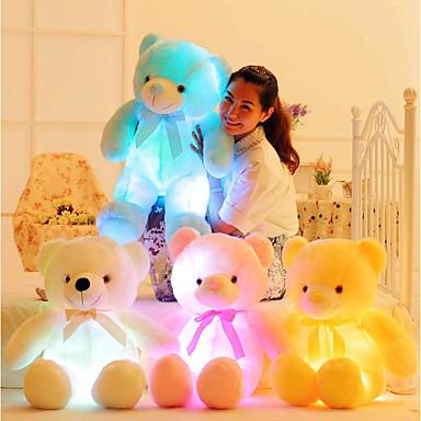 voordelige Knuffels & Pluche dieren-Romantiek Creatief Knuffelbeer Knuffels & Pluche dieren Schattig LED Siliconen Meisjes Speeltjes Geschenk