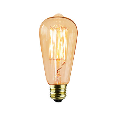 1pç 25W E26 / E27 ST64 2300k Incandescente Vintage Edison Light Bulb 220V 220-240V